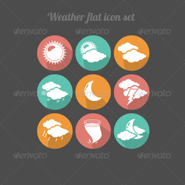 GraphicRiver Flat Design Weather Icons 6920433