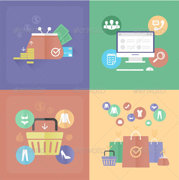 GraphicRiver Vector Internet Shopping 6920496