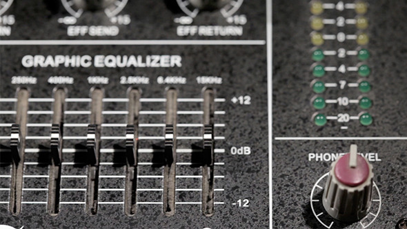 Music Mixing Desk With Equalizer
