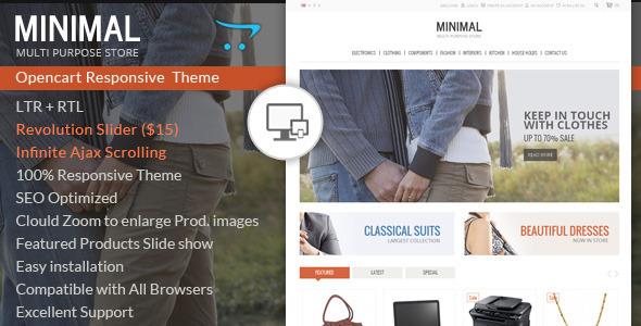 ThemeForest Minimal Multi Purpose Responsive Opencart Theme 6920882