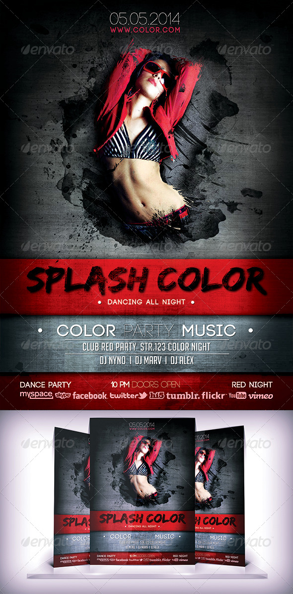 GraphicRiver Splash Color Flyer 6921421
