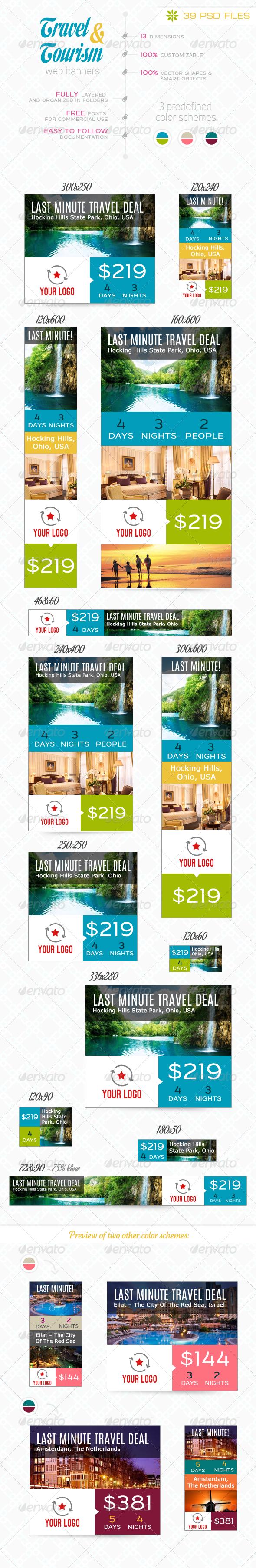 GraphicRiver Travel & Tourism Web Banner Set 6912301
