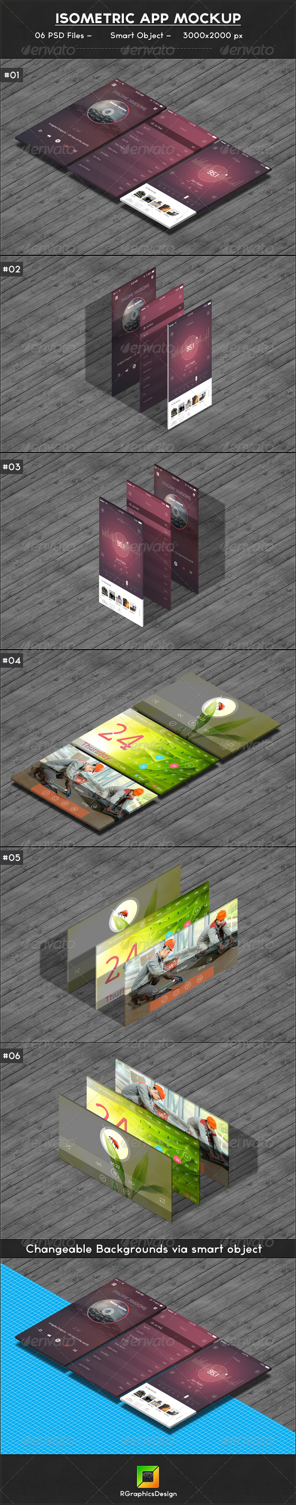 GraphicRiver Isometric App Mockup 6913862