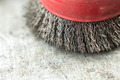 circular wire brush on workbench close up - PhotoDune Item for Sale