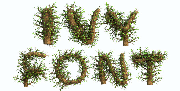Growing Tree With Wind Blow Alphabet