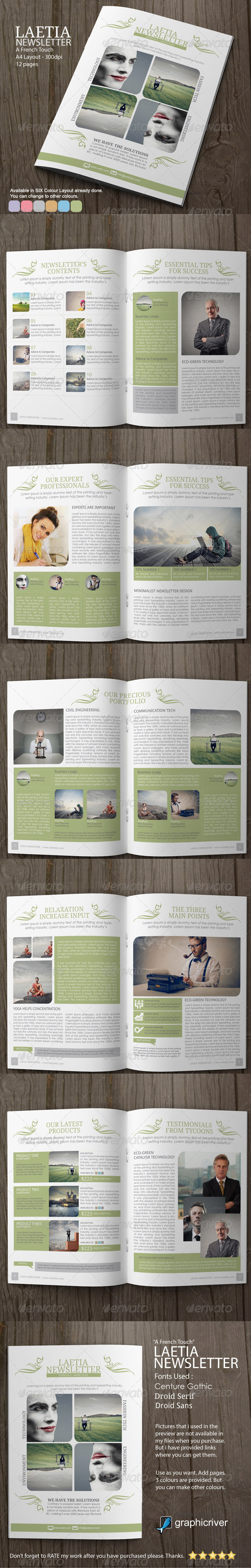 GraphicRiver Newsletter Template Laetia 1 6922318