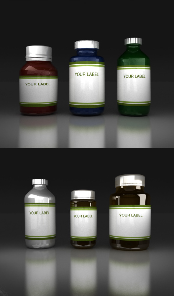 Medicine Bottles V2 - 3DOcean Item for Sale