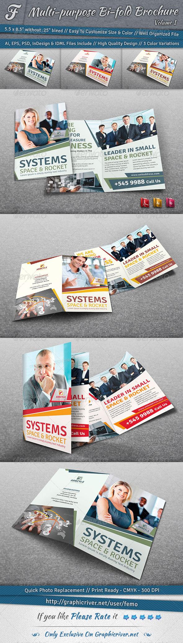 GraphicRiver Multi-purpose Bi-fold Brochure Volume 1 6921016