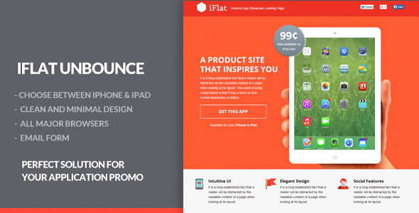 ThemeForest iFlat Univeral App Showcase Landing Page 6922775
