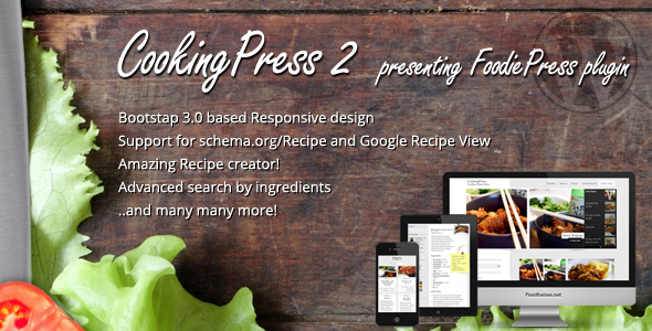 CookingPress Recipe & Food WordPress theme