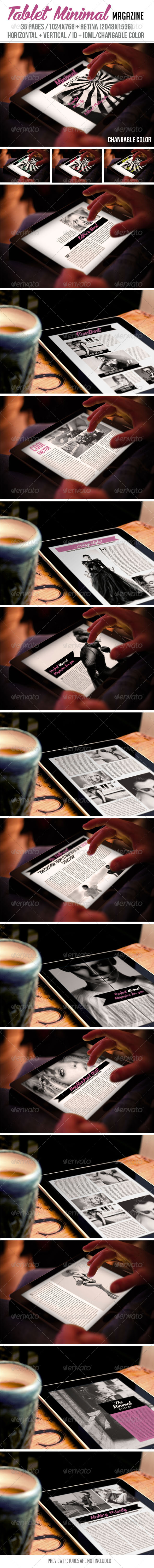 GraphicRiver Tablet Minimal Magazine 6923090