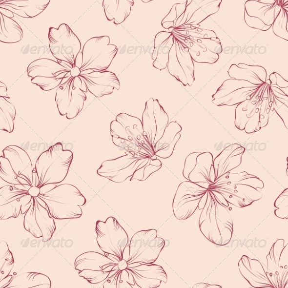 Cherry Blossom Seamless Pattern