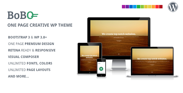 ThemeForest Bobo One Page Multifunctional WP Theme 6923240
