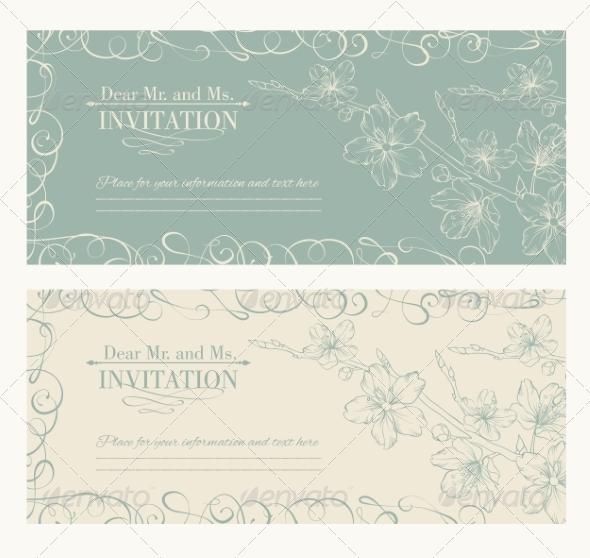 GraphicRiver Decorative Card with Sakura 6923274