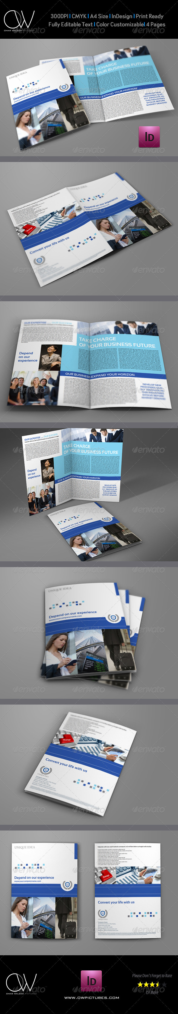 GraphicRiver Company Brochure Bi-Fold Template Vol.20 6923422