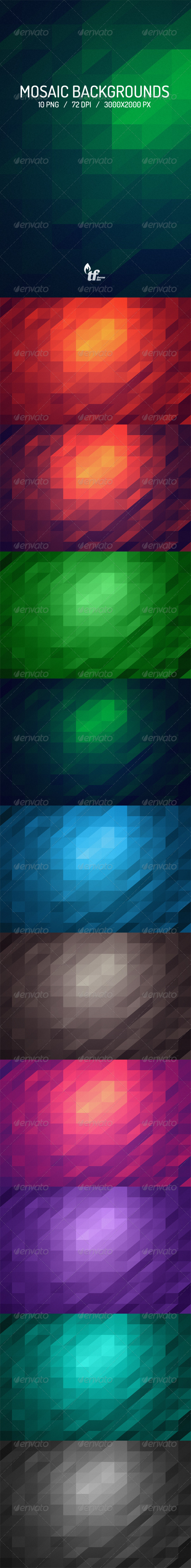GraphicRiver Mosaic Backgrounds 6923424