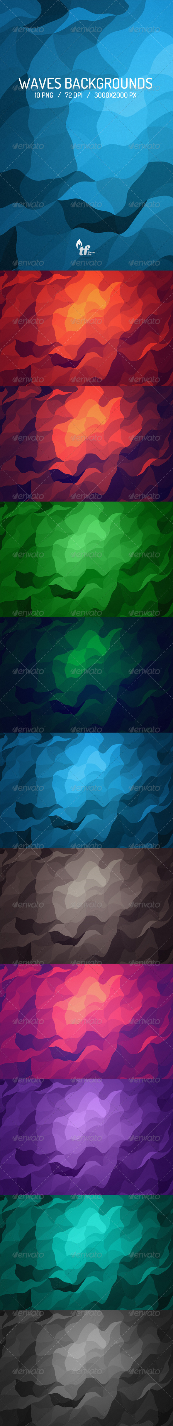 GraphicRiver Waves Backgrounds 6923769