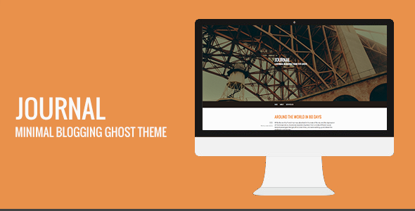 Journal: minimal blogging theme for Ghost