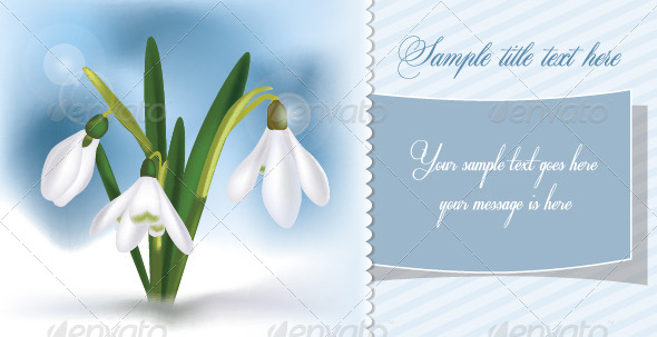 GraphicRiver Snowdrops Spring Card 6909847