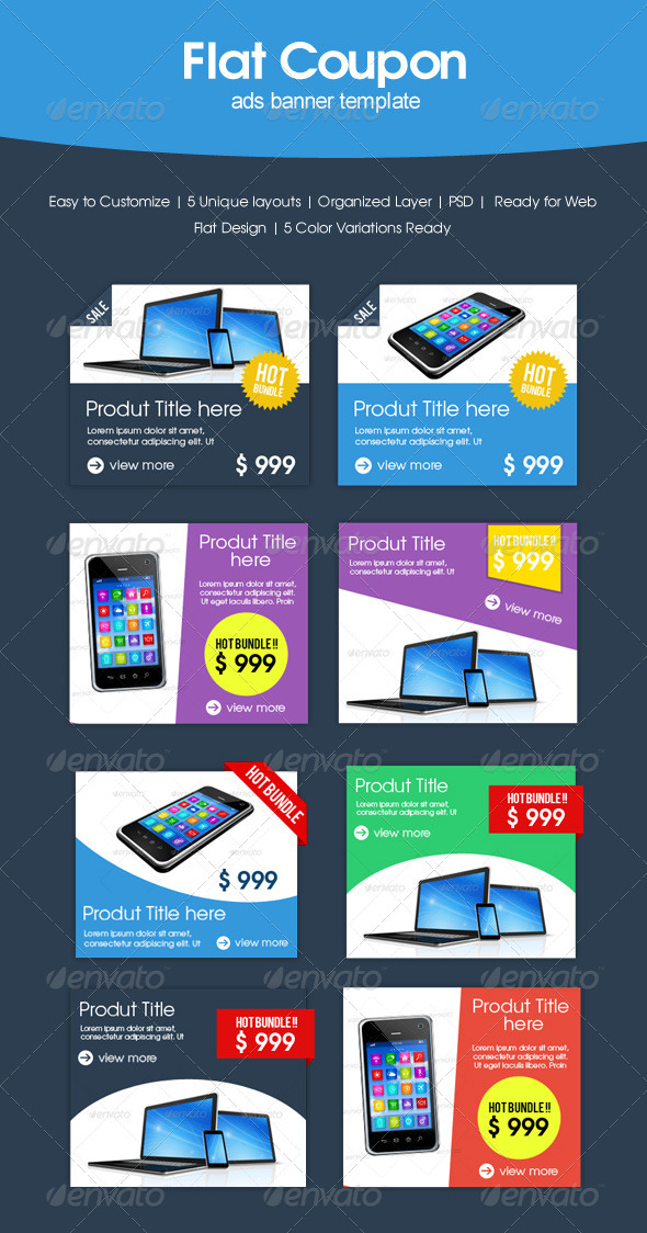 GraphicRiver Flat Coupon Sale 6819994