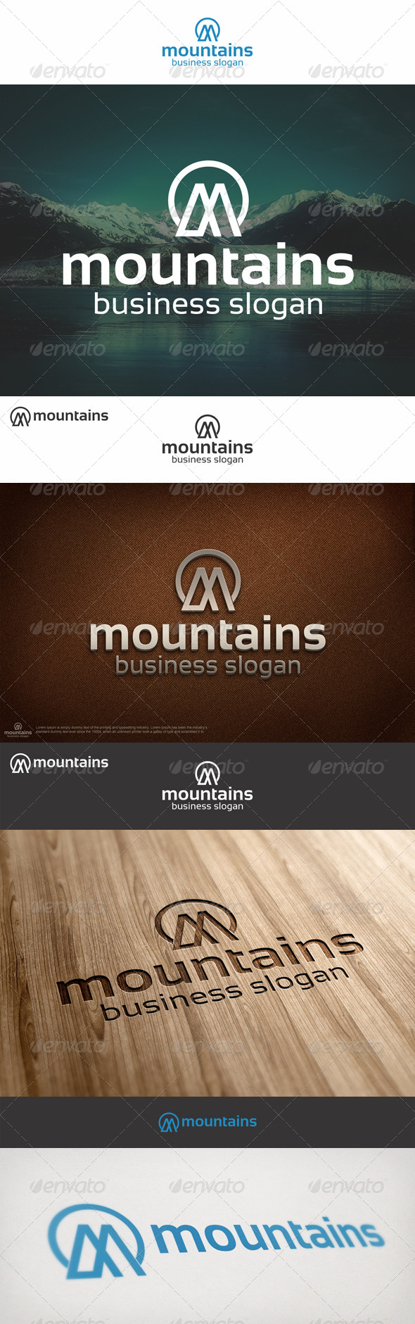 GraphicRiver Mountains Logo M Letter 6924768