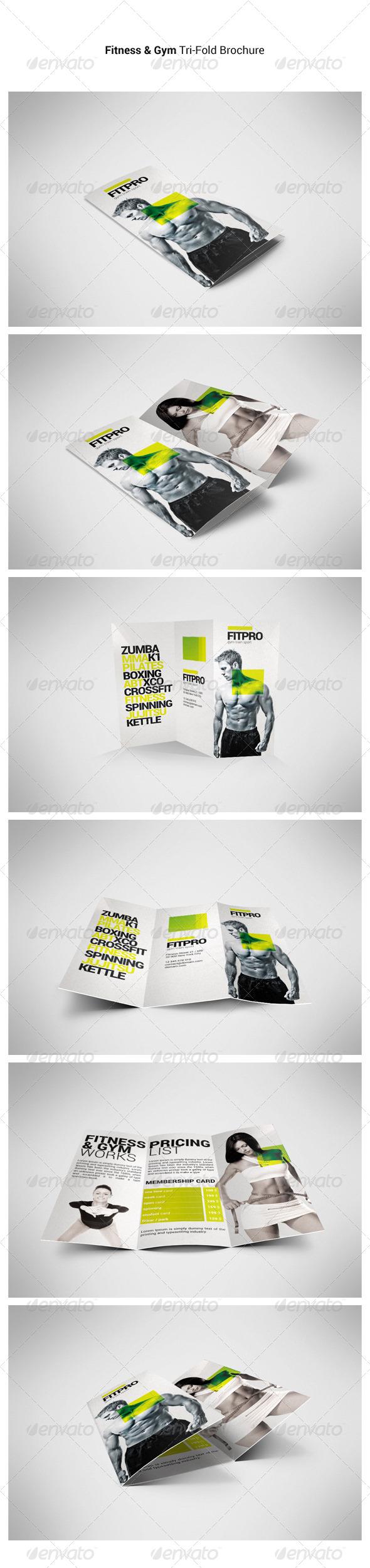 GraphicRiver Fitness Tri-Fold Brochure 6924934