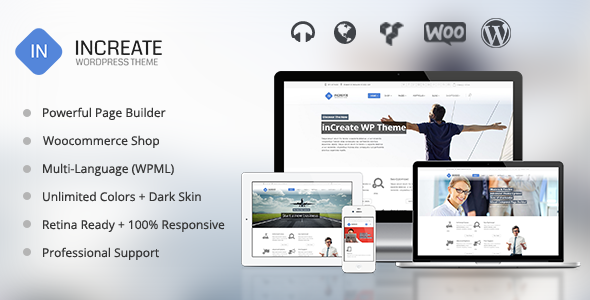 inCreate - Responsive MultiPurpose WordPress Theme -