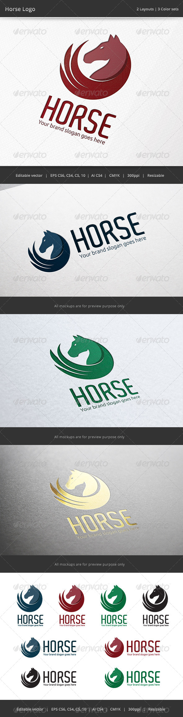 GraphicRiver Horse Circle Logo 6925258