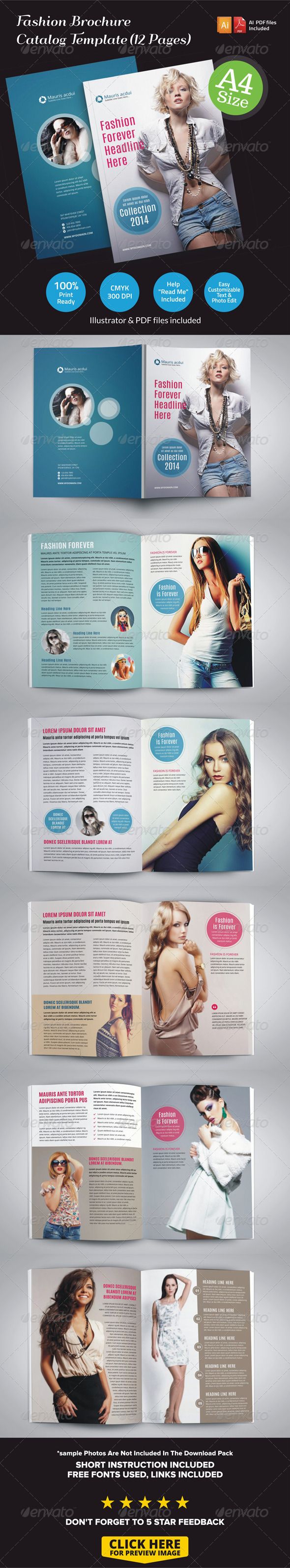 GraphicRiver Fashion Brochure Catalog 12 Pages 6925336