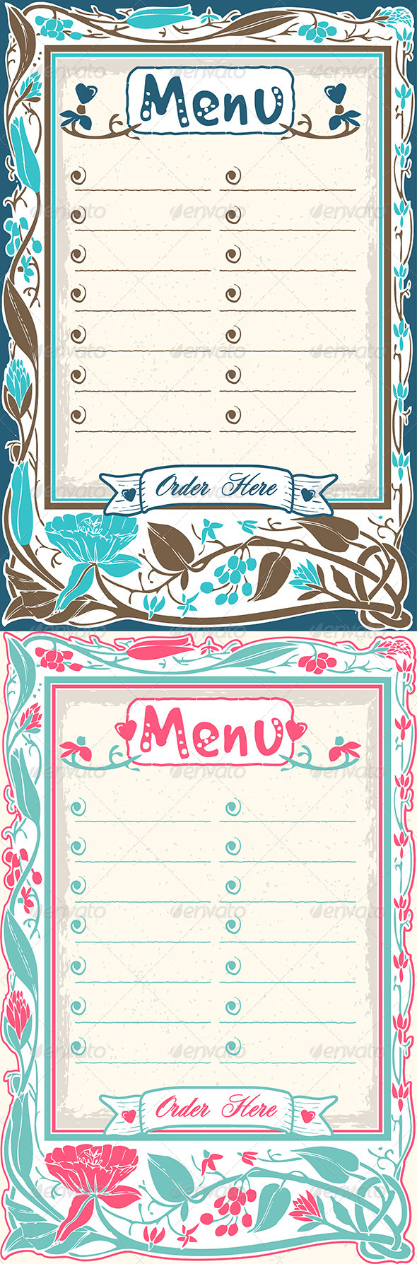 GraphicRiver Vintage Candid Menu 6925537