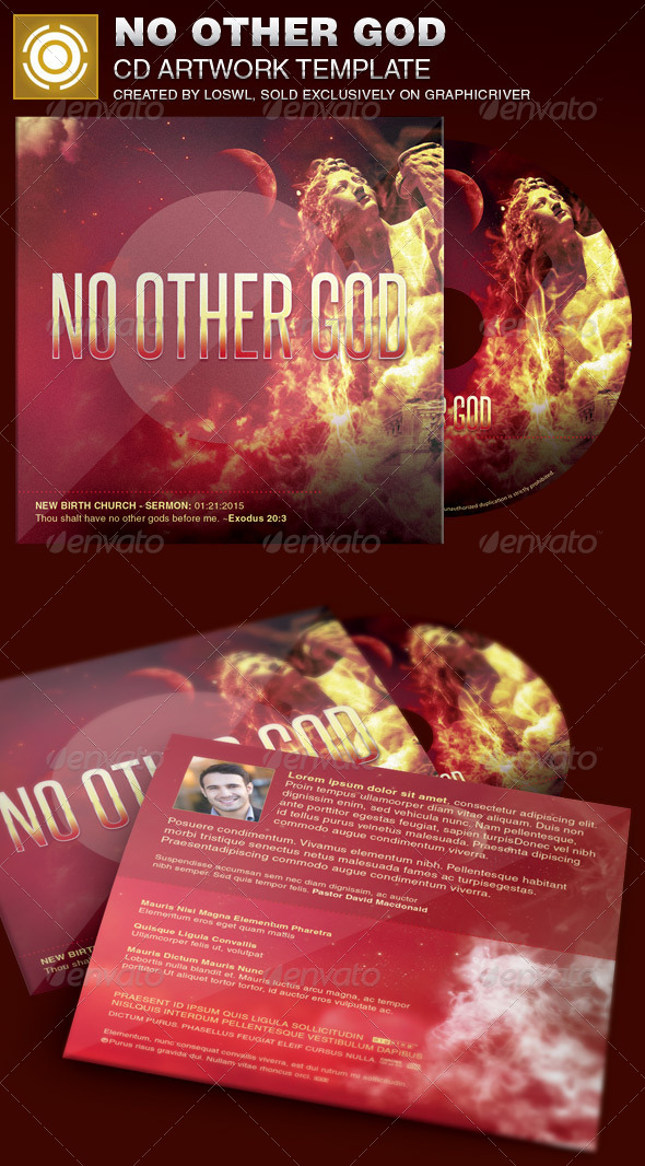 GraphicRiver No Other God CD Artwork Template 6925572