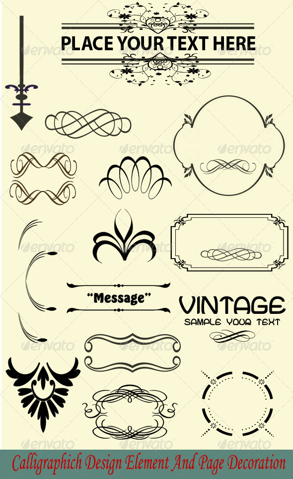 GraphicRiver Calligraphic and Vintage Design Element 6917447