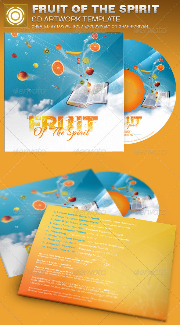 GraphicRiver Fruit of the Spirit CD Artwork Template 6926088