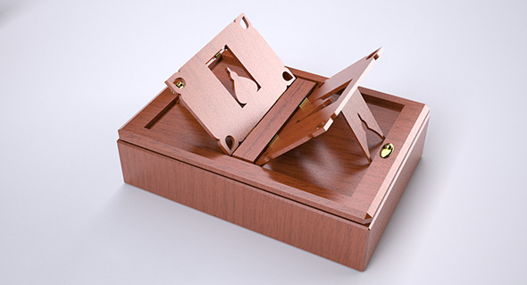 Box and Book Holder - 3DOcean Item for Sale