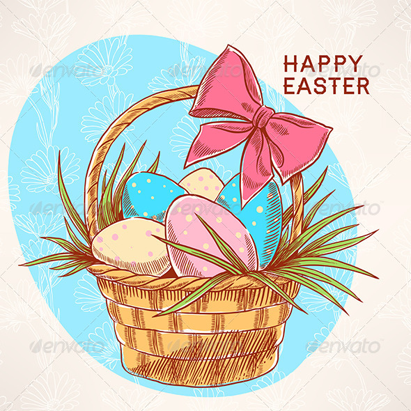 GraphicRiver Easter Basket 6926135