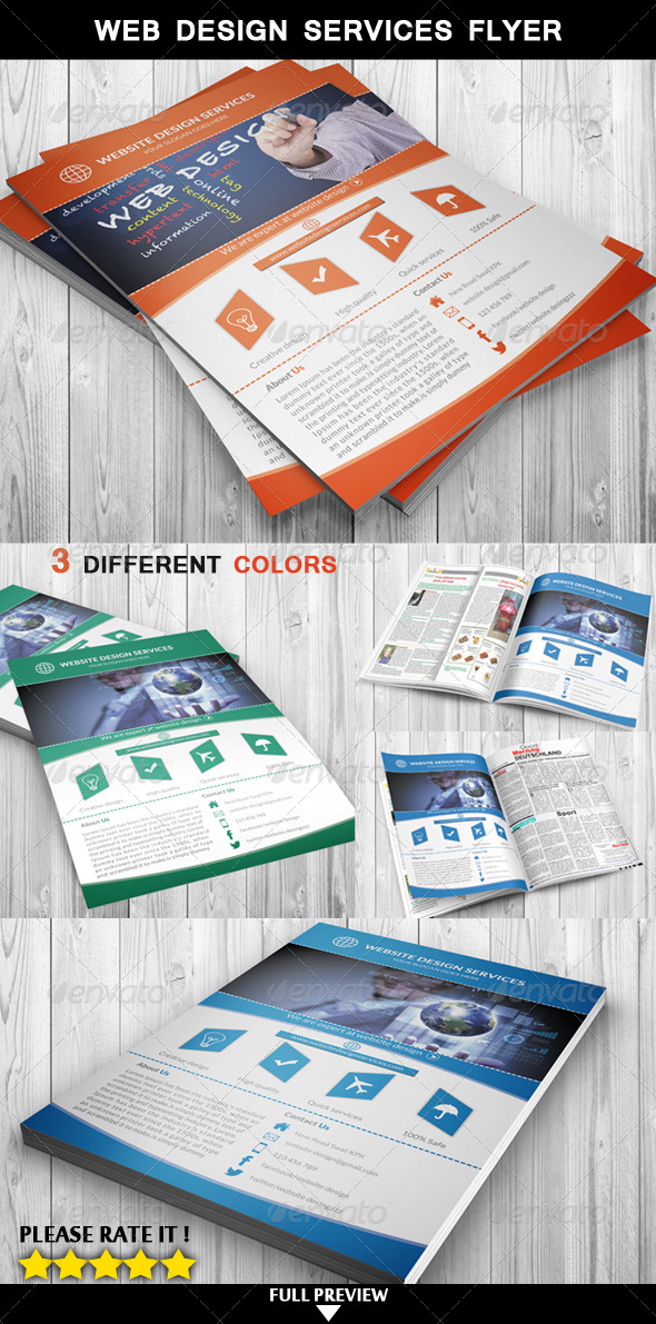GraphicRiver Web Design Services Flyer 6926193