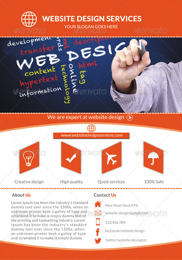 Web Design Services Flyer by Mehrodesigns – Web Flyer