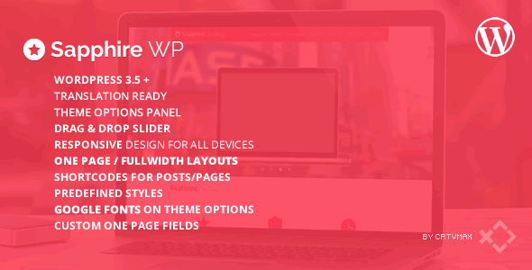 ThemeForest Sapphire One Page Wordpress Template 5369718