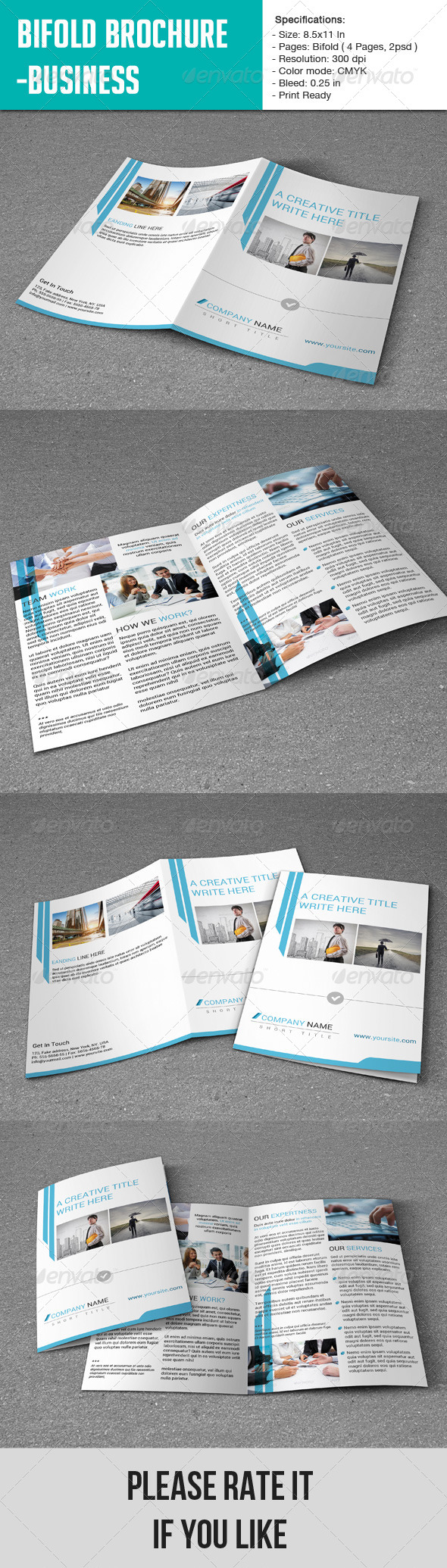 GraphicRiver Bifold Brochure- Business 6926356
