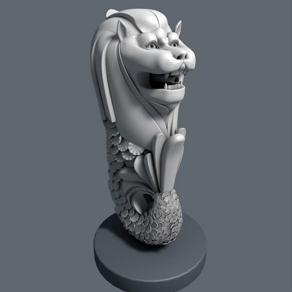 3DOcean Merlion of Singapore 6926411