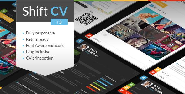 ShiftCV | Blog, Resume, Portfolio Drupal Theme