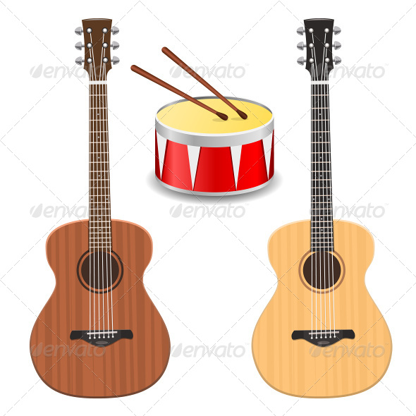 GraphicRiver Two Guitars with Drum 6927040
