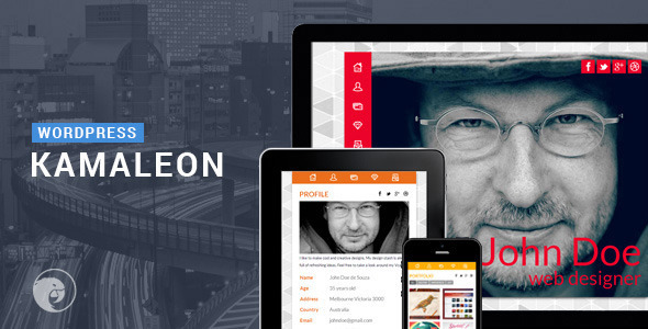 ThemeForest Kamaleon Responsive vCard Wordpress 6927062