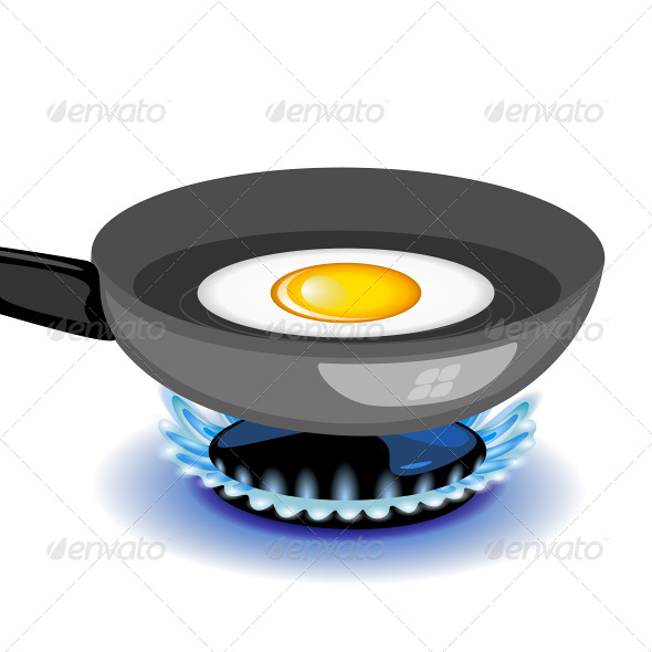 GraphicRiver Fried Egg on a Frying Pan 6927104