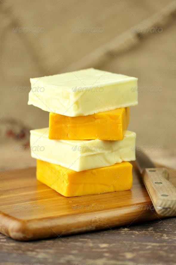 A Stack Of Cheese - Stock Photo - Images