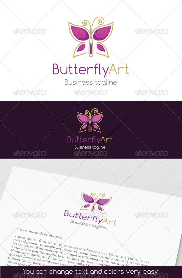 GraphicRiver ButterflyArt Logo 6918290