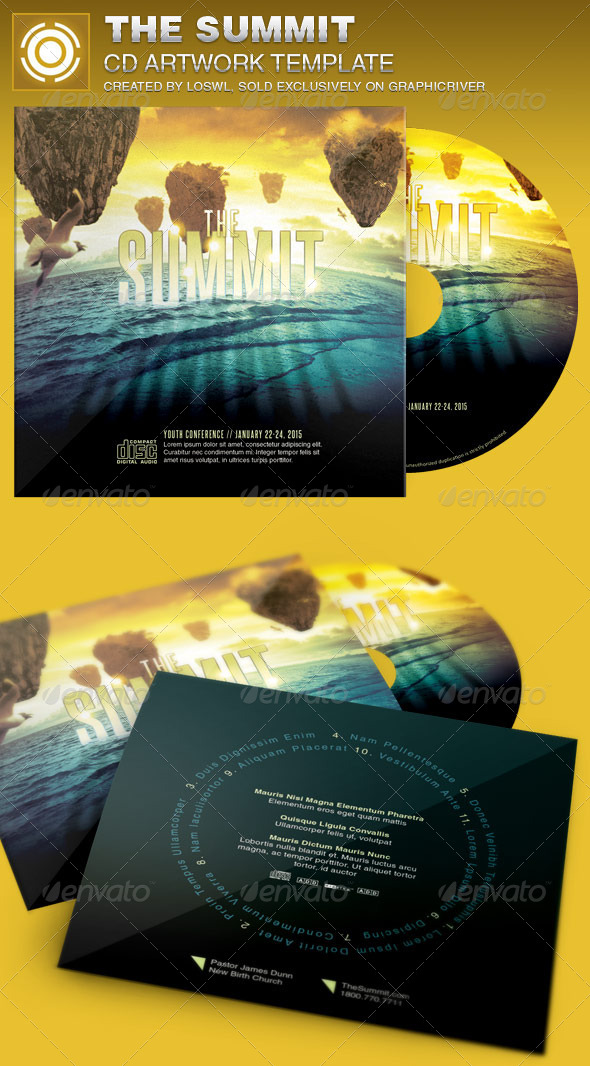GraphicRiver The Summit CD Artwork Template 6927417