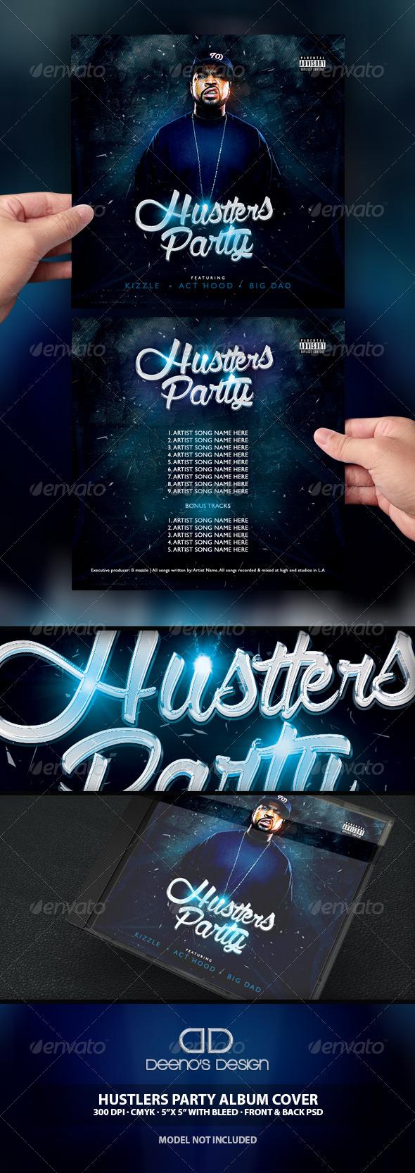 GraphicRiver Hustlers Party Album Cover Deeno s Designs 6928758