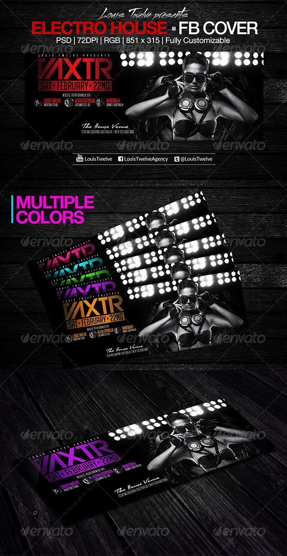 GraphicRiver Electro House Facebook Cover 6928840