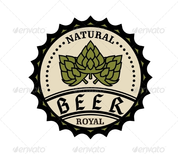 GraphicRiver Beer Icon or Bottle Cap Design 6928859